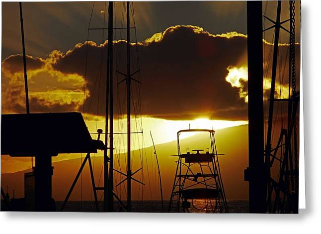 Lahaina Sunsets 5 Greeting Card