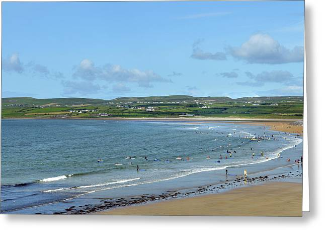 Greeting Card featuring the photograph Lahinch Beach by Terence Davis