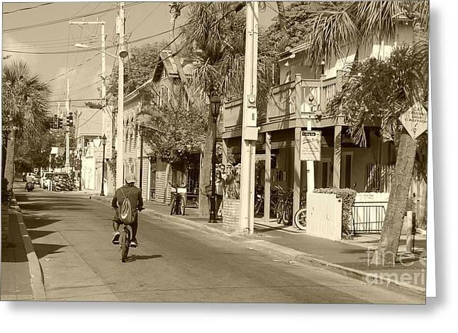 Laid Back Key West Greeting Card by Debbi Granruth