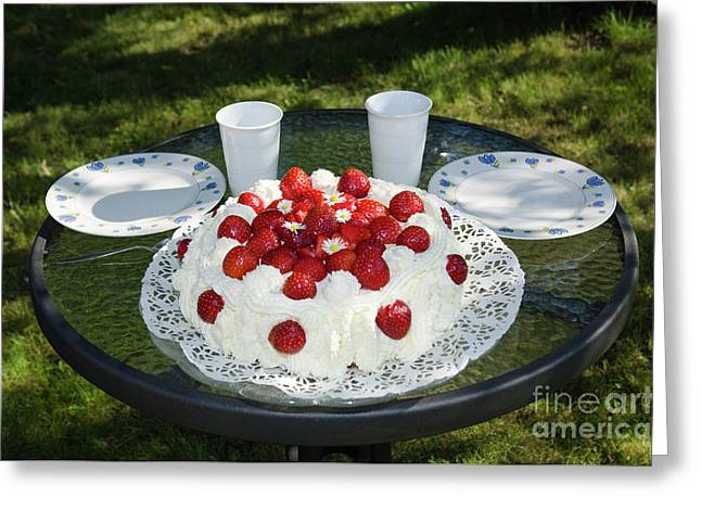 Greeting Card featuring the photograph Laid Summer Table by Kennerth and Birgitta Kullman