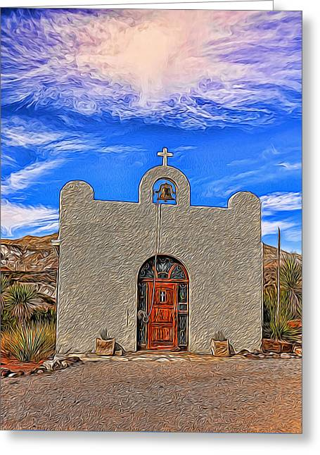 Lajitas Chapel Painted Greeting Card
