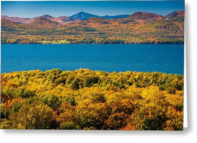 Lak Champlain In Autumn Greeting Card by Robert Davis