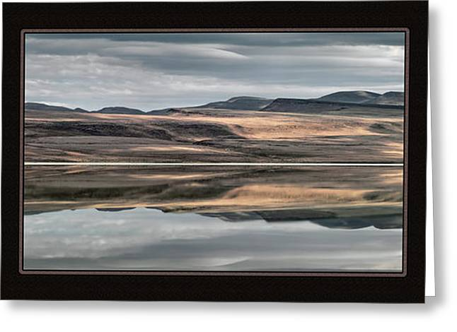 Lake Abert Triptych Greeting Card by Leland D Howard