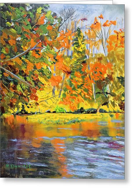Lake Aerofloat Fall Foliage Greeting Card