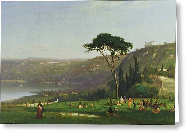 Lake Albano Greeting Card by George Inness