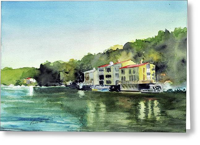 Lake Ann Reston Va Greeting Card by Paul Temple