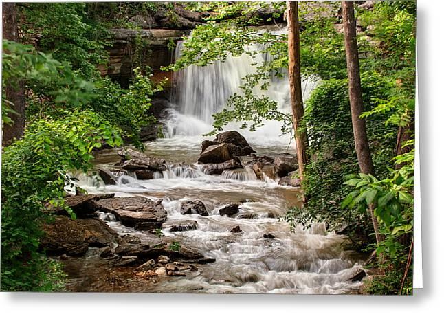Lake Ann Waterfall - Bella Vista Arkansas Greeting Card by Gregory Ballos