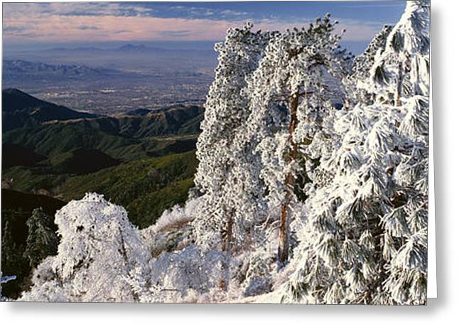 Lake Arrowhead In Winter, California Greeting Card by Panoramic Images