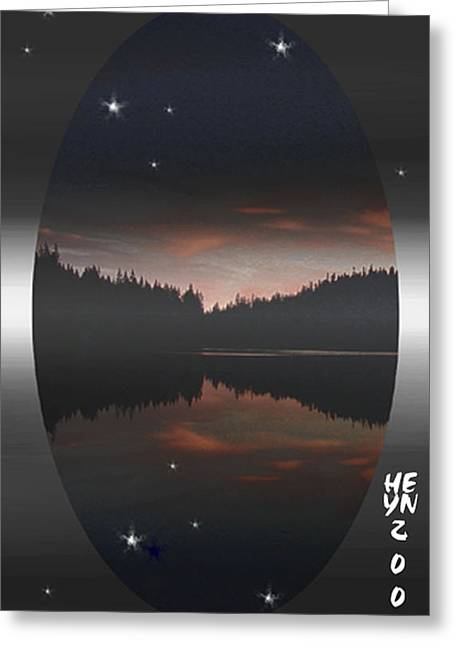 Lake At Dusk Greeting Card