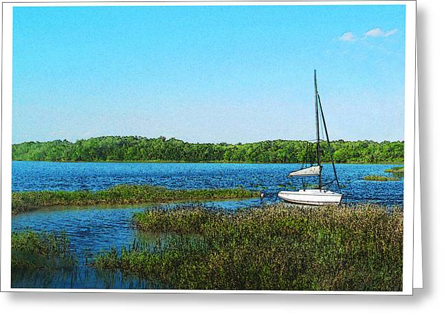 Lake At Hamony Fl Greeting Card by Deborah Hildinger