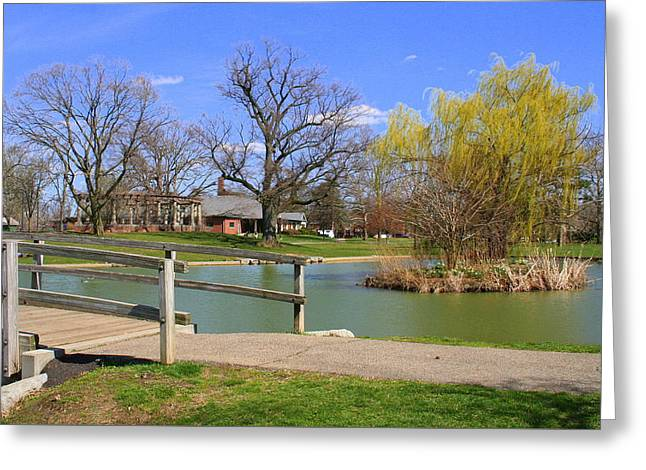 Lake At Schiller Park Greeting Card
