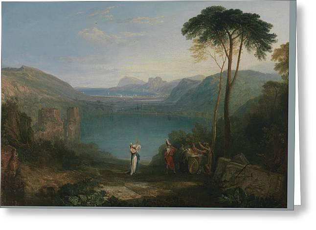 Lake Avernus  Aeneas And The Cumaean Sybil  Greeting Card by Joseph Mallord William Turner