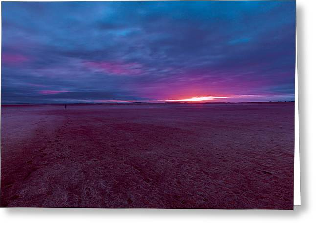 Lake Ballard At Dawn Greeting Card