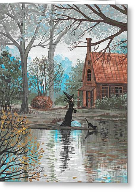 Lake Bewitched Greeting Card