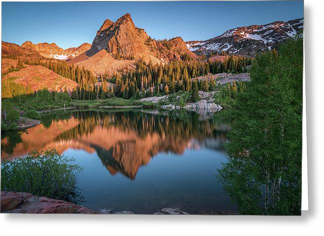 Lake Blanche At Sunset Greeting Card