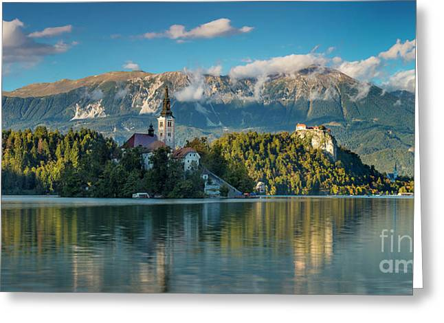 Lake Bled Evening Greeting Card by Brian Jannsen