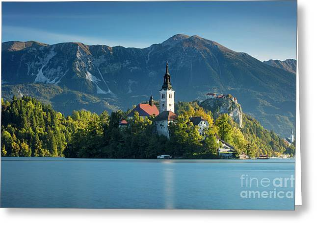 Lake Bled Morning Greeting Card by Brian Jannsen
