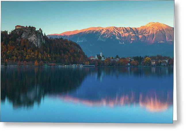 Lake Bled Panorama Greeting Card