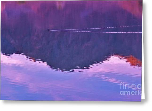 Lake Cahuilla Reflection Greeting Card