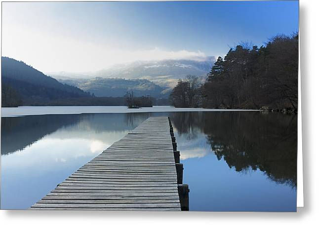 Lake Chambon. Auvergne. France Greeting Card