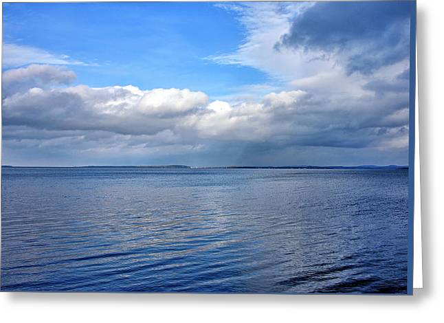 Greeting Card featuring the photograph Lake Champlain From New York by Brendan Reals
