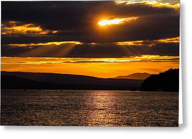 Lake Champlain Sunset Greeting Card