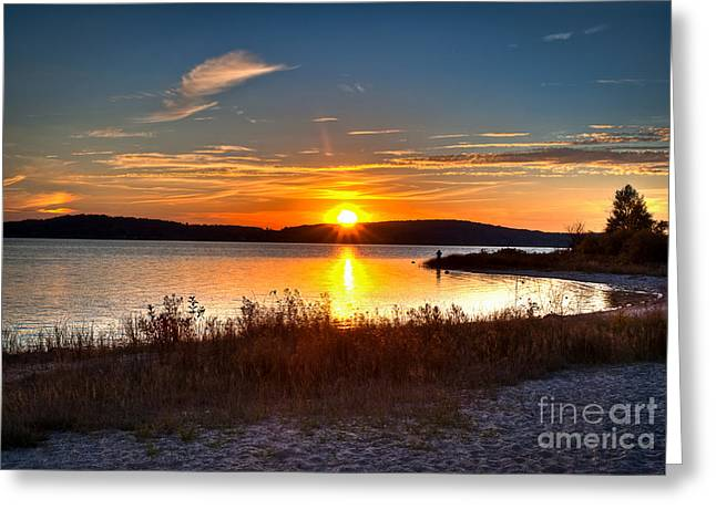 Lake Charlevoix Sunset Greeting Card