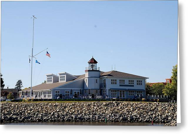 Lake City Lighthouse Greeting Card by Larry Nielson