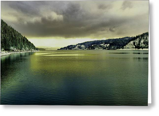 Greeting Card featuring the photograph Lake Coeur D' Alene by Jeff Swan