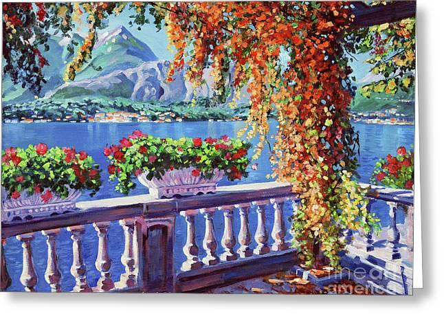 Lake Como Greeting Card by David Lloyd Glover