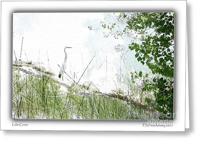 Lake Crane Greeting Card