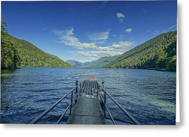 Lake Crescent Dock Greeting Card