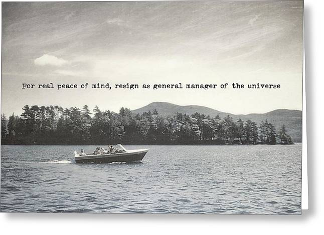 Lake Cruise Quote Greeting Card by JAMART Photography