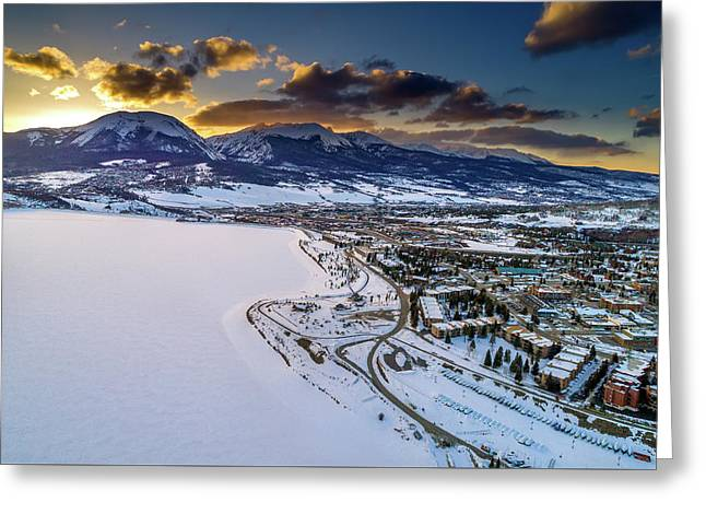 Greeting Card featuring the photograph Lake Dillon Sunset by Sebastian Musial