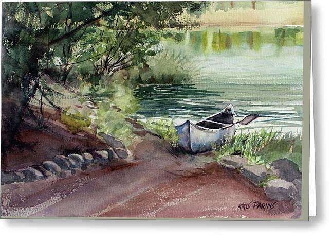 Lake Dreams Greeting Card by Kris Parins