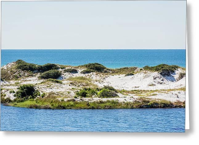 Lake Dunes Gulf Sky Greeting Card