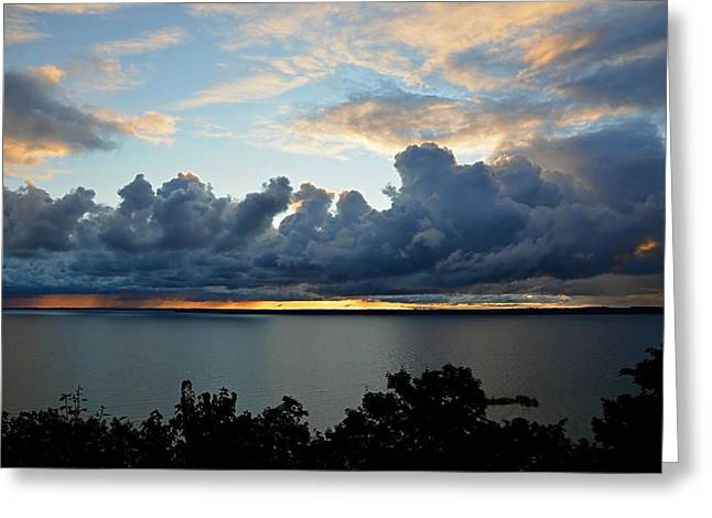 Greeting Card featuring the photograph Lake Effect Sky by SimplyCMB