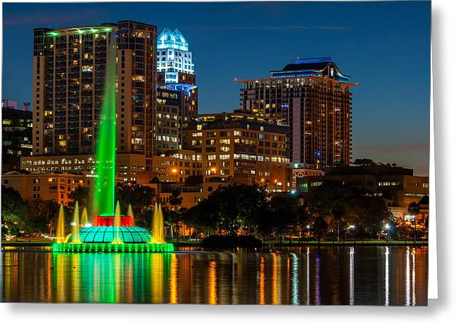 Lake Eola Fountain Greeting Card