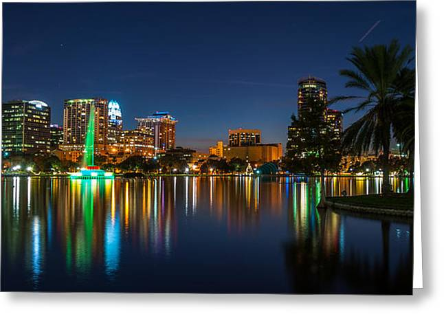 Lake Eola Orlando Greeting Card