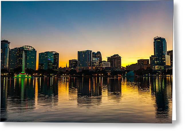 Lake Eola Sunset Greeting Card