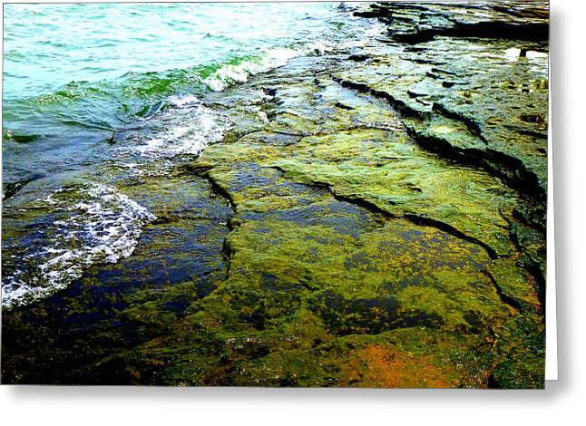 Lake Erie Flat Rocks  Greeting Card