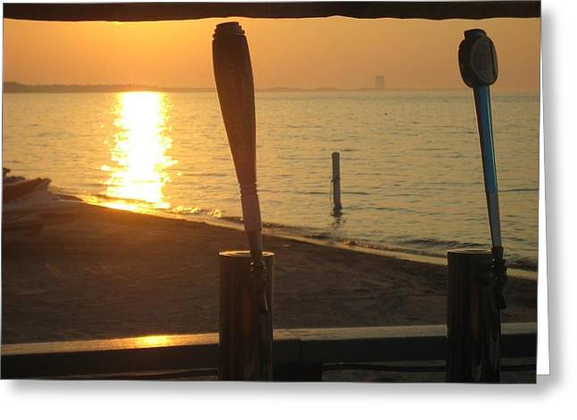 Lake Erie On Tap Greeting Card by Toni Jackson