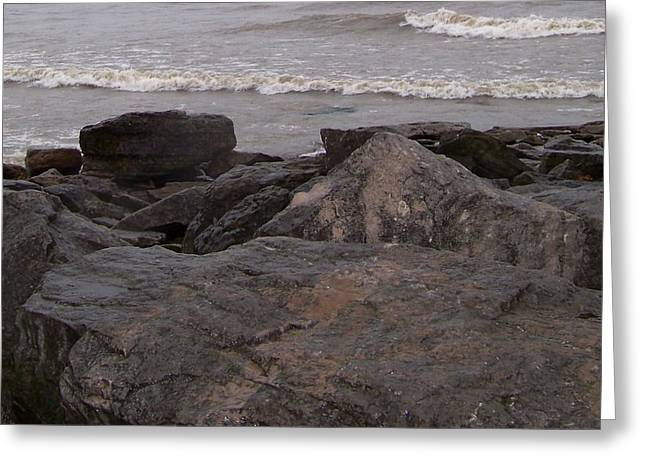 Lake Erie On The Rocks Greeting Card