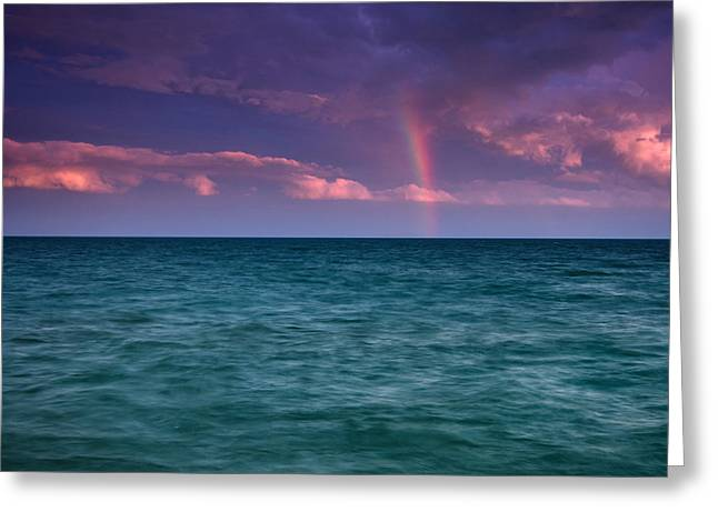 Lake Erie Rainbow Greeting Card
