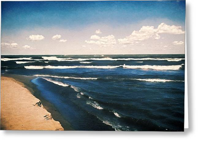Lake Erie Whitecaps  Greeting Card by Shawna Rowe