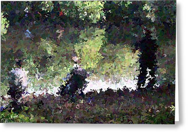 Lake Fishing Impressionist Painting Greeting Card by Dawn Hay