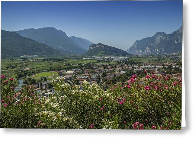 Lake Garda Arco And Surroundings Greeting Card by Melanie Viola