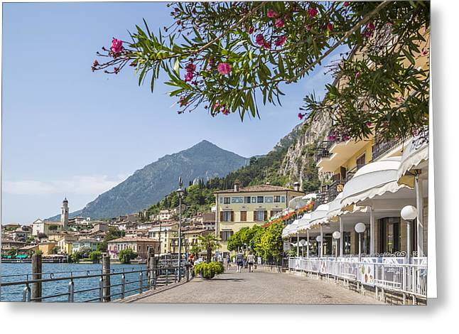 Lake Garda Limone Sul Garda Lakeside Greeting Card by Melanie Viola