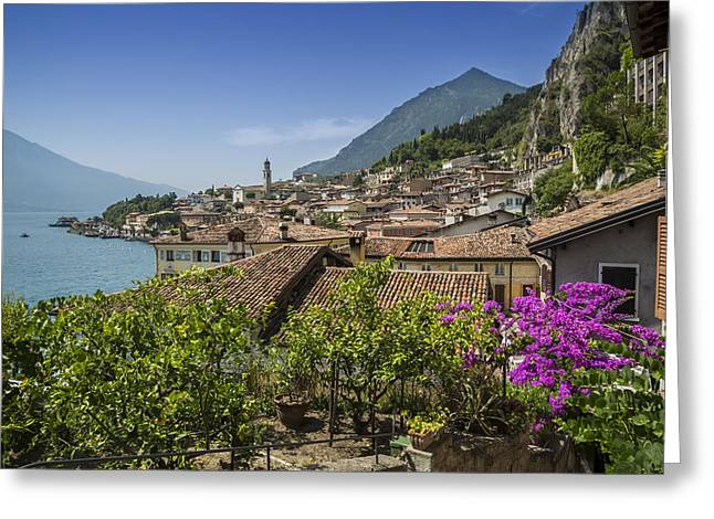 Lake Garda Limone Sul Garda Greeting Card by Melanie Viola