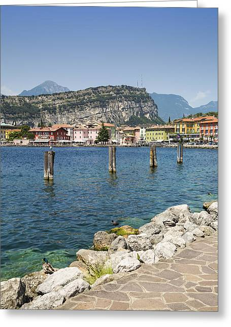 Lake Garda Torbole Lakeside Greeting Card by Melanie Viola